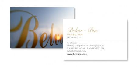 Tarjetas de visita para Belva Bus | © 2011 esmya-estudio